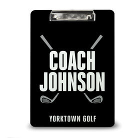 Golf Custom Clipboard Golf Coach