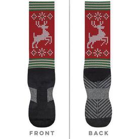 Printed Mid-Calf Socks - Christmas Knit