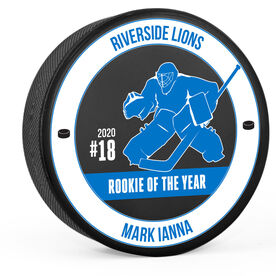 Personalized Hockey Puck - Team Awards Goalie