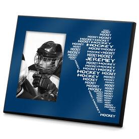 Hockey Personalized Photo Frame Personalized Hockey Player Words