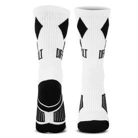 Skiing & Snowboarding Woven Mid-Calf Socks - I'm Difficult