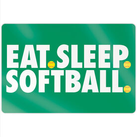 "Softball 18"" X 12"" Aluminum Room Sign - Eat Sleep Softball"