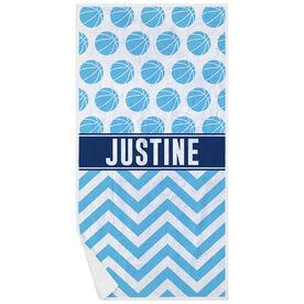 Basketball Premium Beach Towel - Personalized Pattern