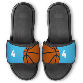 Basketball Repwell™ Slide Sandals - Ball and Number Reflected