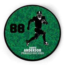 Football Circle Plaque - Running Back With Text