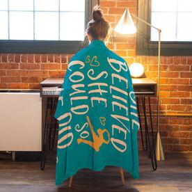 Figure Skating Premium Blanket - She Believed She Could So She Did