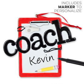 Coach Clipboard Ornament - Ready To Personalize