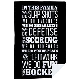 Hockey Premium Blanket - We Do Hockey
