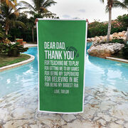 Football Premium Beach Towel - Dear Dad