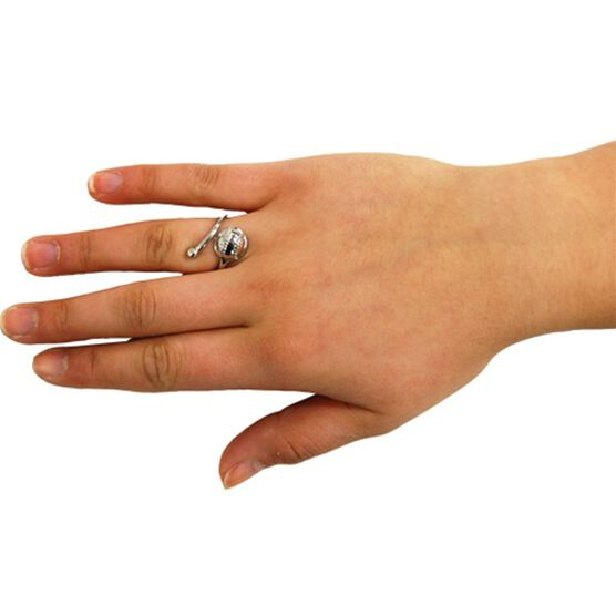Silver Softball/Baseball Finger Ring