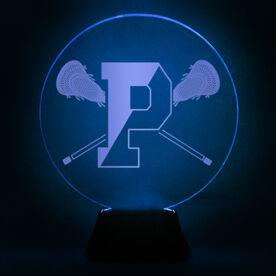 Acrylic LED Lamp - Pentucket Youth Lacrosse Logo