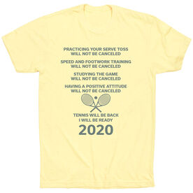 Tennis Short Sleeve T-Shirt - Tennis Will Be Back 2020 ($5 Donated to the American Red Cross)