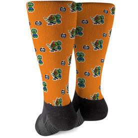 Seams Wild Football Printed Mid-Calf Socks - Slowyo (Pattern)