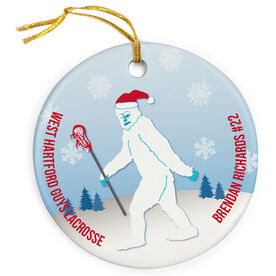 Guys Lacrosse Porcelain Ornament Abominable Laxman