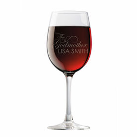 Personalized Wine Glass - The Godmother