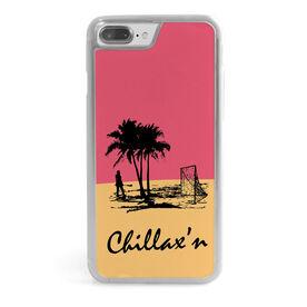 Girls Lacrosse iPhone® Case - Chillax'n Beach Girl