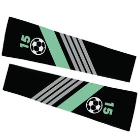 Soccer Printed Arm Sleeves - Personalized Soccer Ball with Stripes