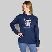 Skiing Tshirt Long Sleeve Ski Bunny