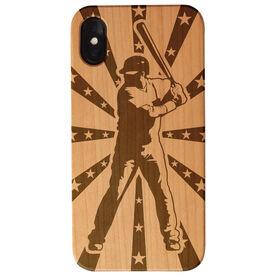 Baseball Engraved Wood IPhone® Case - Ready To Bat