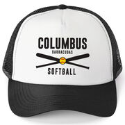 Softball Trucker Hat - Team Name With Text