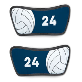Volleyball Repwell™ Sandal Straps - Ball and Number Reflected