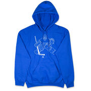 Hockey Hooded Sweatshirt - Hockey Goalie Sketch