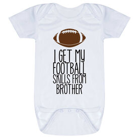 Football Baby One-Piece - I Get My Skills From
