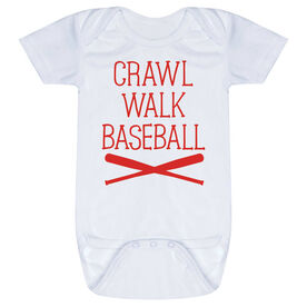 Baseball Baby One-Piece - Crawl Walk Baseball
