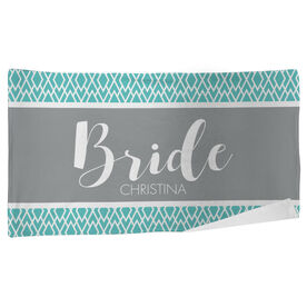 Personalized Beach Towel - The Stylish Bride