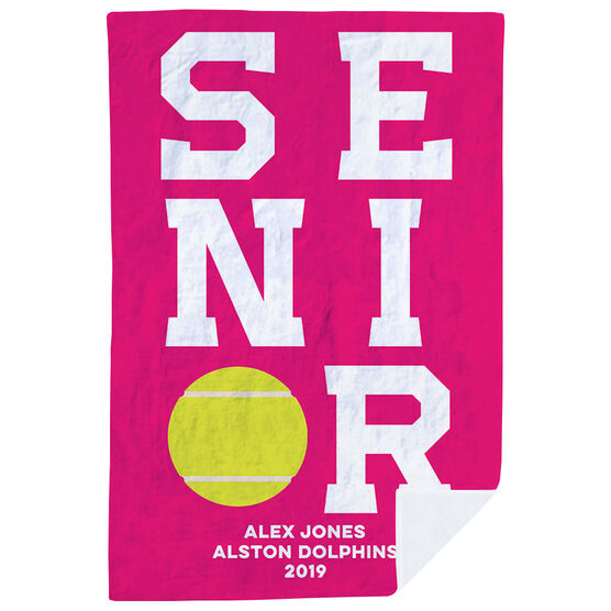 Tennis Premium Blanket - Personalized Senior