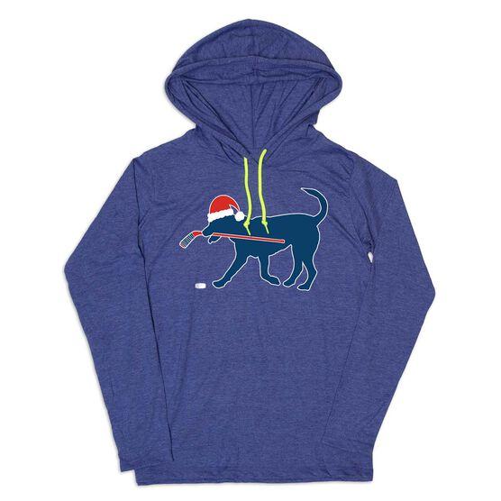Men's Hockey Lightweight Hoodie - Santa Hockey Dog