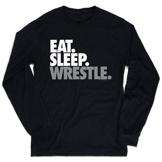 Wrestling Tshirt Long Sleeve - Eat. Sleep. Wrestle