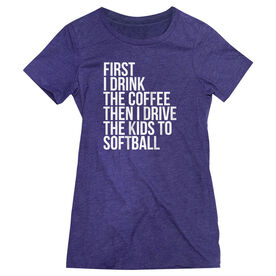 Softball Women's Everyday Tee - Then I Drive The Kids To Softball
