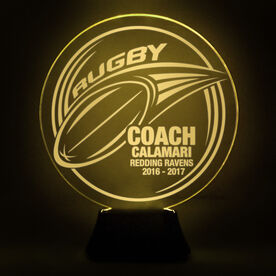 Rugby Acrylic LED Lamp Pass Coach With 3 Lines