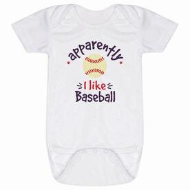 Baseball Baby One-Piece - Apparently, I Like Baseball