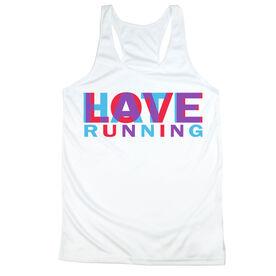 Women's Racerback Performance Tank Top - Love Hate Running