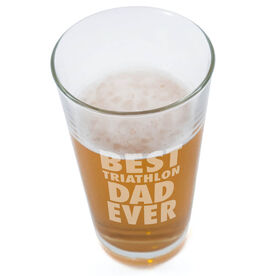 16 oz. Beer Pint Glass Best Tri Dad Ever