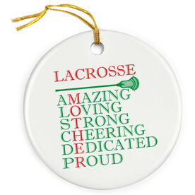 Guys Lacrosse Porcelain Ornament - Mother Words