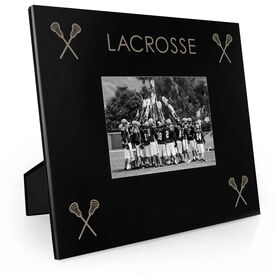 Guys Lacrosse Engraved Picture Frame - Four Corners