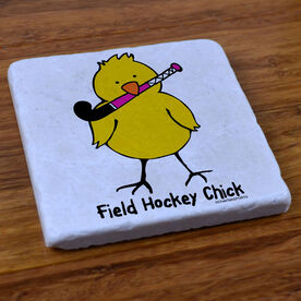 Field Hockey Chick - Stone Coaster