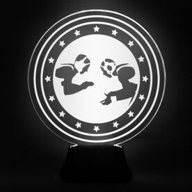 Wrestling Acrylic LED Lamp Takedown