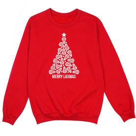 Lacrosse Crew Neck Sweatshirt - Merry Laxmas Tree