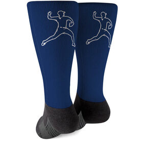 Baseball Printed Mid-Calf Socks - Pitcher