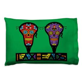 Guys Lacrosse Pillowcase - Bee Heart Laxhead