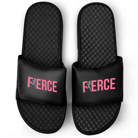 Running Black Slide Sandals - Fierce