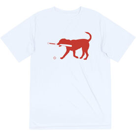 Baseball Short Sleeve Performance Tee - Buddy The Baseball Dog