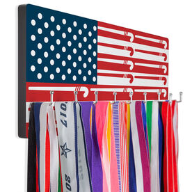 Field Hockey Hooked on Medals Hanger - American Flag