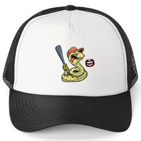 Seams Wild Baseball Trucker Hat - Rattleshake