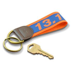 13.1 Half Marathon Runners Key Fob (Blue/Orange)