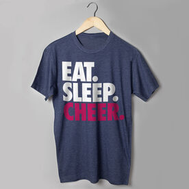 Cheerleading T-Shirt Short Sleeve Eat. Sleep. Cheer.